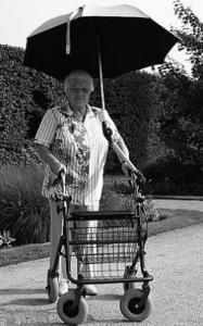 Rollator paraplu - parasol - Mobio